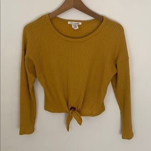 Burt yellow cropped top